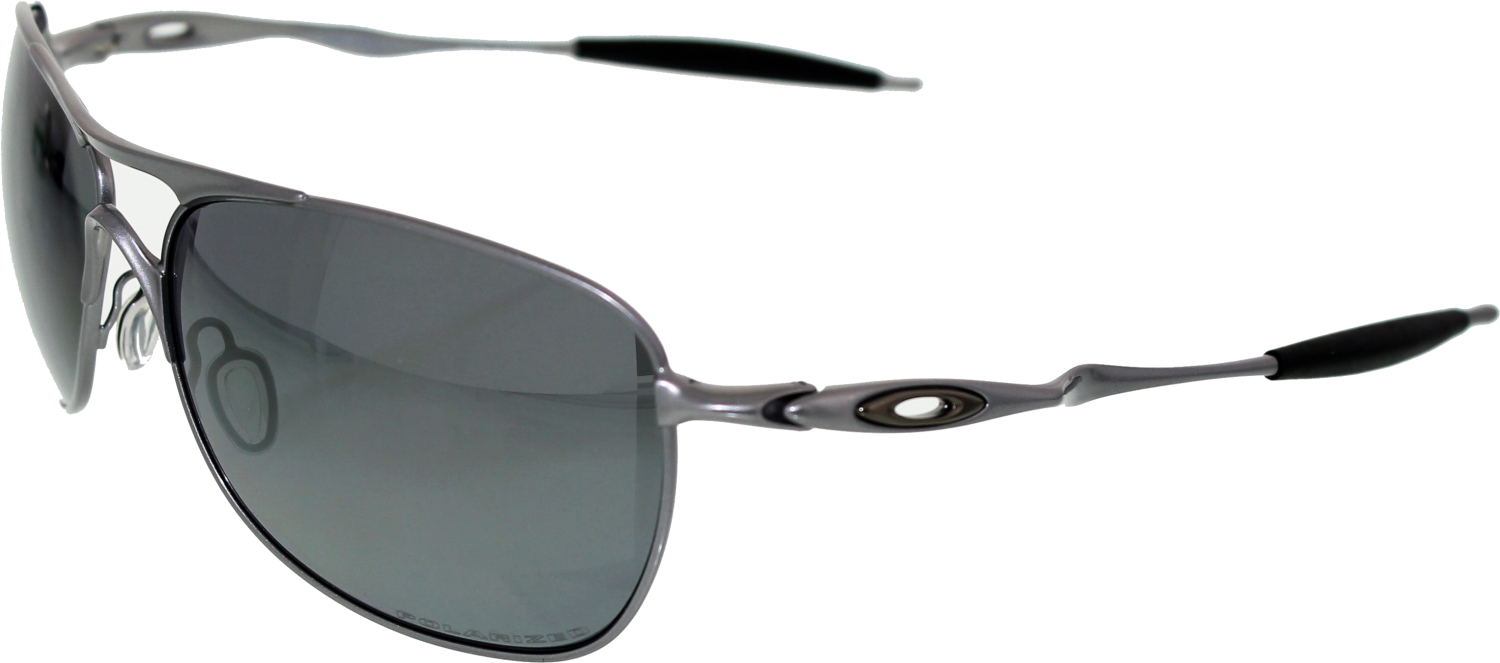 Oakley Crosshair Sunglasses  oakley men 039 s polarized crosshair oo4060 06 silver aviator