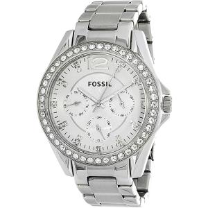 Fossil Women's Riley ES3202 Silver Stainless-Steel Analog Quartz Watch