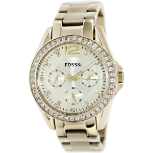 Fossil Women's Riley ES3203 Gold Gold Tone Stainles-Steel Analog Quartz Watch