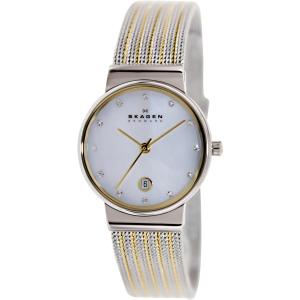 Skagen Women's 355SSGS Silver Stainless-Steel Quartz Watch