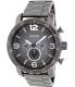 Fossil Men's Nate JR1437 Grey Stainless-Steel Analog Quartz Watch - Main Image Swatch