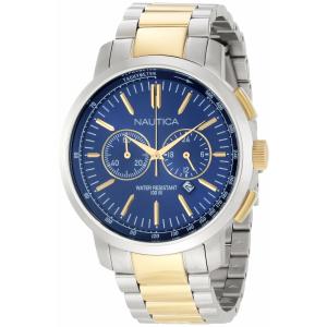 Nautica Men's Metal N23602G Silver Stainless-Steel Quartz Watch
