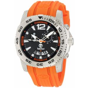 Timberland Men's Hydroclimb 13319JS/02A Orange Plastic Quartz Watch