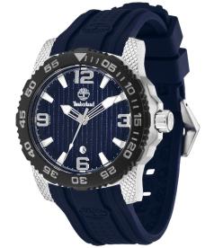 Timberland Men's Sandown 13613JSSB/03 Blue Silicone Analog Quartz Watch