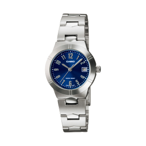 Casio Women's LTP1241D-2A2 Blue Stainless-Steel Quartz Watch