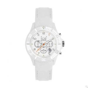 Ice-Watch Women's Matte CHM.WE.B.S.12 White Silicone Quartz Watch