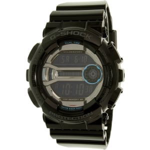 Casio Men's G-Shock GD110-1 Black Plastic Quartz Watch