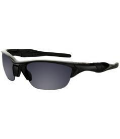 Oakley Men's Gradient Half Jacket OO9144-01 Black Wrap Sunglasses