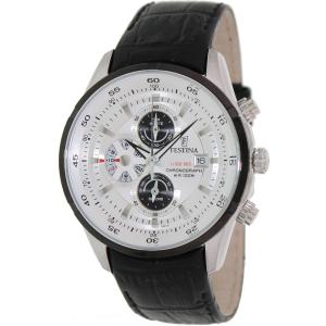 Festina Men's Crono F6821/1 Silver Leather Analog Quartz Watch