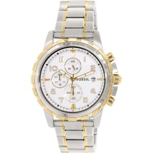 Fossil Men's Dean FS4795 Silver Stainless-Steel Analog Quartz Watch