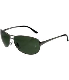 Ray-Ban Men's Polarized Warrior RB3342-004/58-60 Gunmetal Rectangle Sunglasses