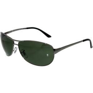 Ray-Ban Men's Polarized Warrior RB3342-004/58-60 Gunmetal Oval Sunglasses