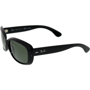 Ray-Ban Women's Polarized 195 RB4101-601/58-58 Black Cat Eye Sunglasses