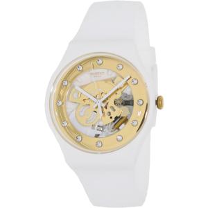 Swatch Women's Originals SUOZ148 White Silicone Swiss Quartz Watch
