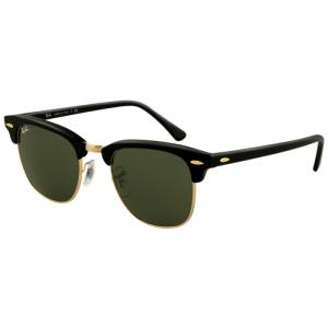 Ray-Ban Men's Clubmaster RB3016-W0365-51 Black Semi-Rimless Sunglasses