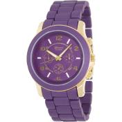 Geneva Platinum Women's 9158.Gold.Purple Purple Metal Quartz Watch