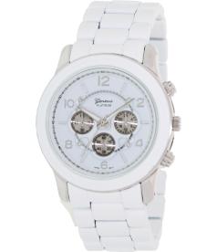 Geneva Platinum Women's 9158.Silver.White White Metal Quartz Watch