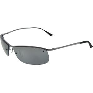 Ray-Ban Men's Polarized  RB3183-004/82-63 Silver Semi-Rimless Sunglasses