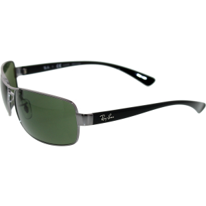 Ray-Ban Men's Polarized  RB3379-004/58-64 Silver Rectangle Sunglasses