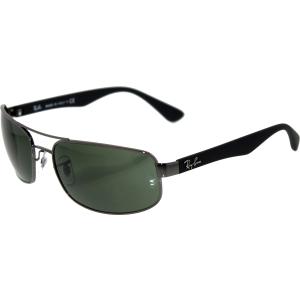 Ray-Ban Men's  RB3445-004-61 Gunmetal Rectangle Sunglasses