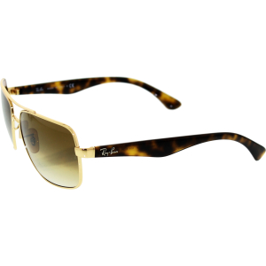 Ray-Ban Men's Gradient  RB3483-001/51-60 Gold Rectangle Sunglasses