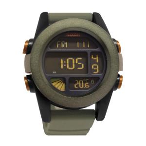Nixon Men's The Unit A1971265 Grey Silicone Quartz Watch