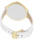 Michael Kors Women's Runway MK2273 White Leather Analog Quartz Watch - Back Image Swatch