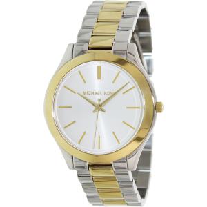 Michael Kors Women's Slim Runway MK3198 Silver Stainless-Steel Quartz Watch