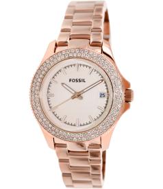Fossil Women's Retro Traveler AM4454 Rose-Gold Stainless-Steel Analog Quartz Watch