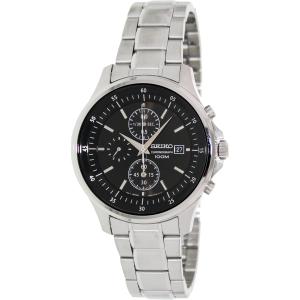 Seiko Men's SNDE19 Black Stainless-Steel Quartz Watch