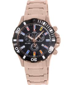 Swiss Precimax Men's Armada Pro SP13053 Black Stainless-Steel Swiss Chronograph Watch