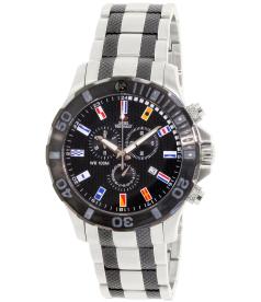 Swiss Precimax Men's Armada Pro SP13054 Black Stainless-Steel Swiss Chronograph Watch