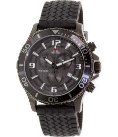 Swiss Precimax Men's Tarsis Pro SP13060 Black Rubber Swiss Chronograph Watch