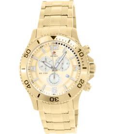 Swiss Precimax Men's Tarsis Pro SP13065 Gold Stainless-Steel Swiss Chronograph Watch