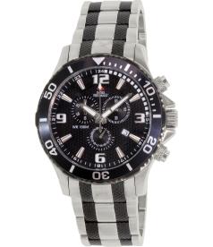 Swiss Precimax Men's Tarsis Pro SP13068 Black Stainless-Steel Swiss Chronograph Watch