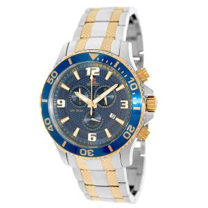 Swiss Precimax Men's Tarsis Pro SP13070 Blue Stainless-Steel Swiss Chronograph Watch