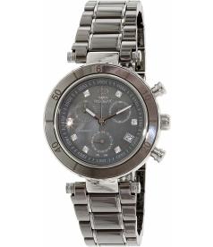 Swiss Precimax Women's Sophie Ceramic Elite SP13165 Mother-Of-Pearl Ceramic Swiss Chronograph Watch