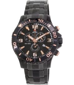 Swiss Precimax Men's Tarsis Pro SP13229 Black Stainless-Steel Swiss Chronograph Watch