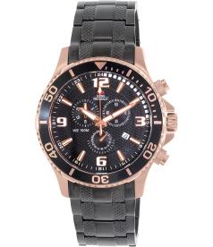 Swiss Precimax Men's Tarsis Pro SP13230 Black Stainless-Steel Swiss Chronograph Watch