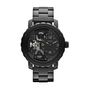 Fossil Men's Nate ME1133 Black Stainless-Steel Quartz Watch