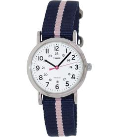 Timex Women's Weekender T2P074 White Nylon Analog Quartz Watch