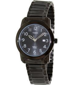 Timex Men's Elevated Classics T2P135 Black Stainless-Steel Analog Quartz Watch