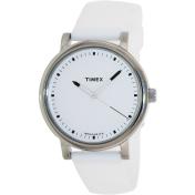 Timex Women's Weekender T2P169 White Silicone Analog Quartz Watch
