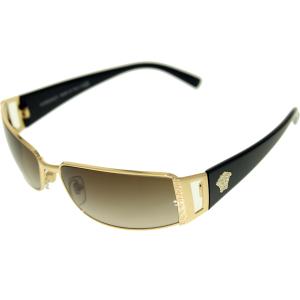 Versace Women's Gradient  VE2021-100213-60 Gold Rectangle Sunglasses