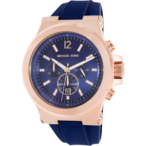 Michael Kors Men's Dylan MK8295 Blue Silicone Quartz Watch