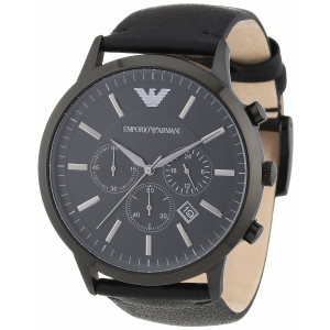 Emporio Armani Men's Sportivo AR2461 Black Leather Analog Quartz Watch