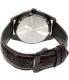 Casio Men's Core BEM121AL-7A Black Leather Quartz Watch - Back Image Swatch