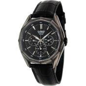 Casio Men's Core BEM310BL-1A Black Leather Quartz Watch