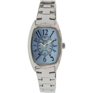 Casio Women's Core LTP1208D-2B Silver Stainless-Steel Quartz Watch