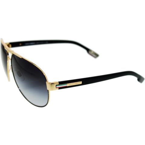 Dolce & Gabbana Men's Gradient DG2099-10818G-61 Gold Aviator Sunglasses